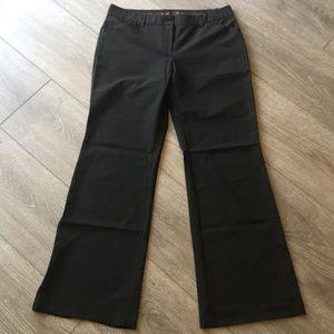 Express Editor dress pants size 10 black pinstripe